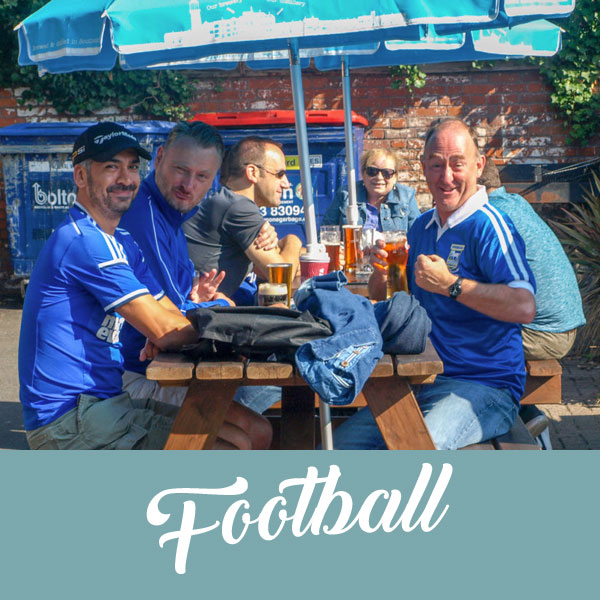 Football at the Greyhound pub Ipswich